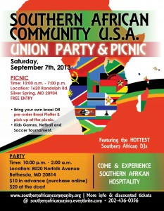 Flyer for 2013 Picnic